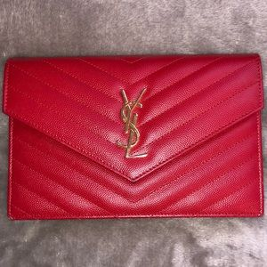 RED YSL WALET ON CHAIN
